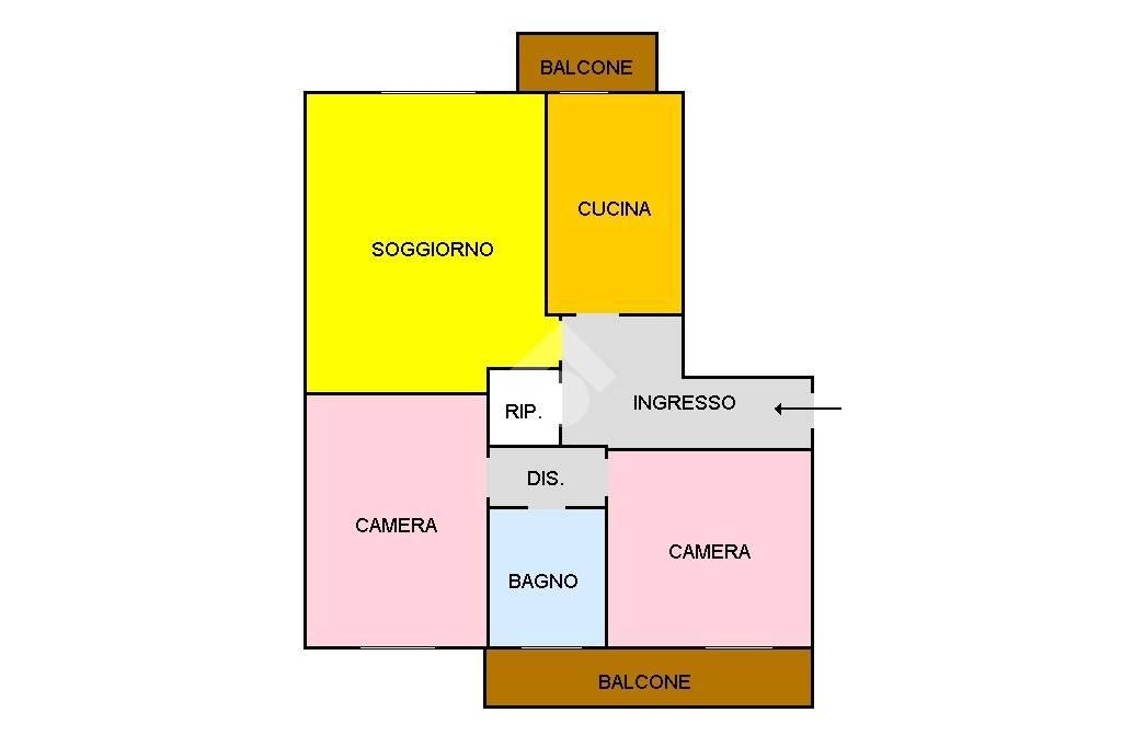 foto PLANIMETRIA 3-room flat via Silvio Pellico, Rescaldina