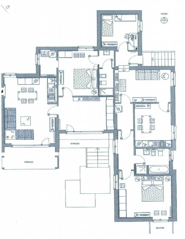 foto plan. Single family villa via Roma 46, Caravaggio