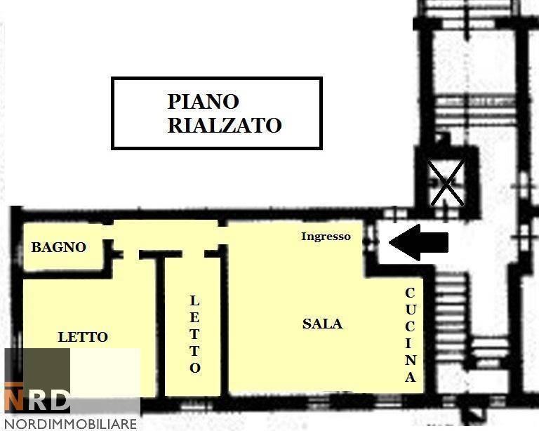 foto plan 3-room flat good condition, mezzanine, Mantova