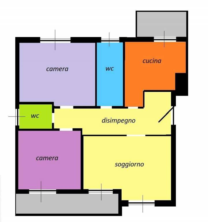 foto scheda 3-room flat via Genova, Pregnana Milanese