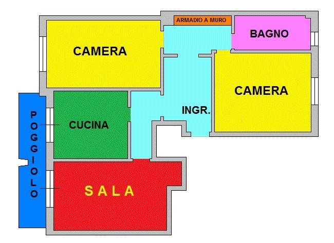 foto PLANIMETRIA 3-room flat via Pasquale Berghini, Genova
