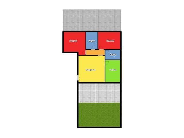 foto Piantina 3-room flat via Giuseppe Garibaldi 1, Rodano