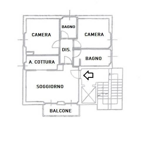 foto planimetria 3-room flat via Felice Cavallotti, Treviglio