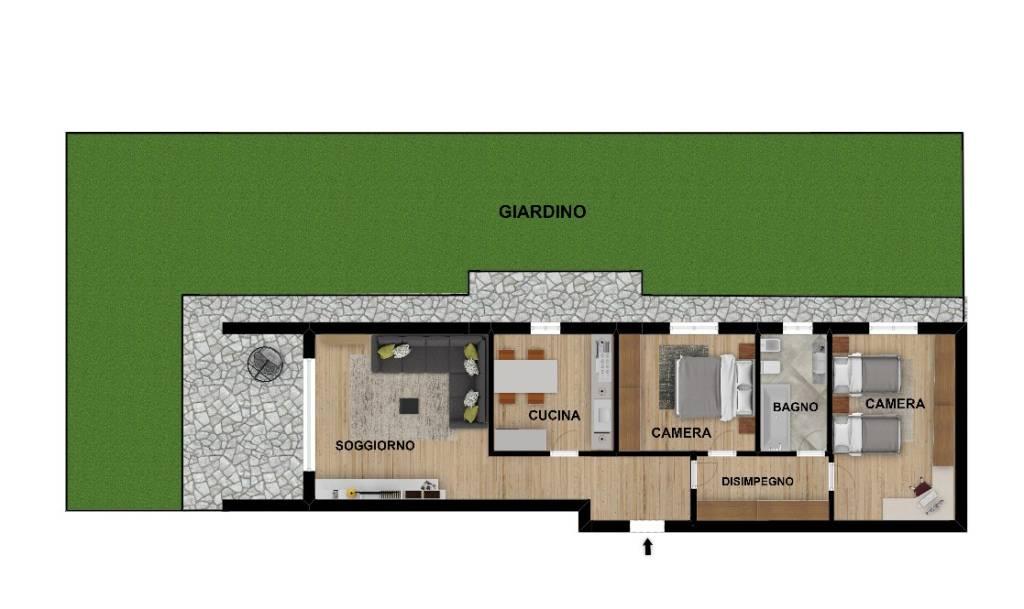 foto planimetria 3-room flat via Giuseppe Garibaldi, Bussero