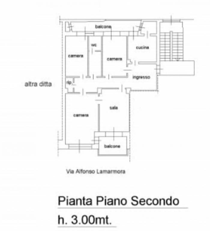 foto plan alloggio Διαμέρισμα via Alfonso La Marmora 10, Biella