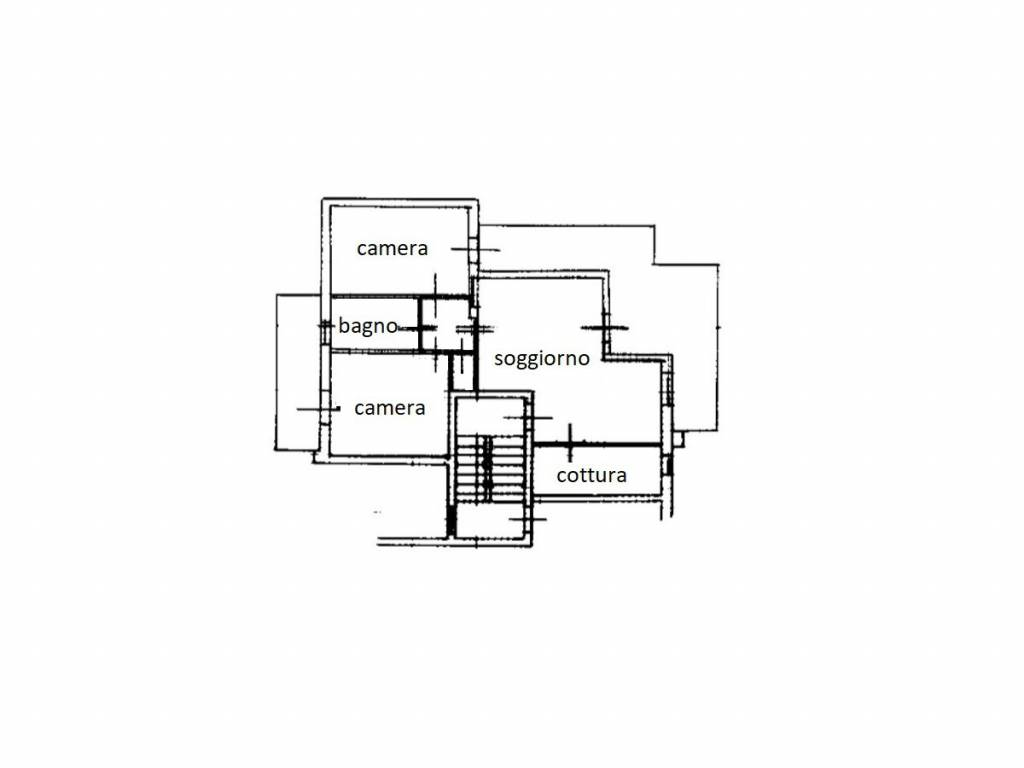 foto Planimetria 3-room flat via Ezio Vanoni 2, Chiesa in Valmalenco