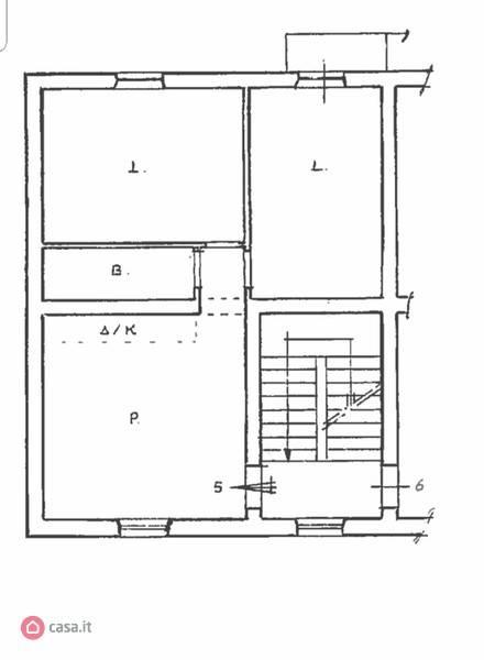 foto planimetria 3-room flat via Maria Josè del Belgio, Sant'Angelo Romano