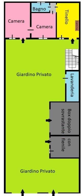 foto planimetria piano terra Terratetto unifamiliare via san martino, Carate Brianza