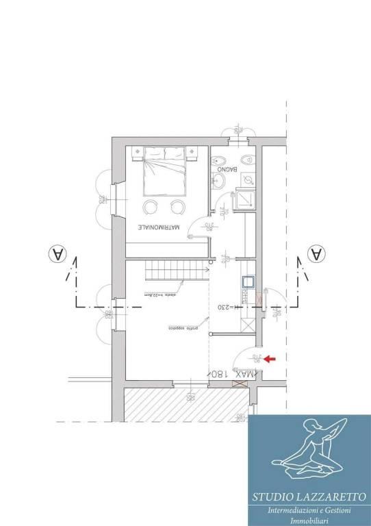 foto planimetria Δυάρι καλή κατάσταση, τελευταίος όροφος, Capriano del Colle