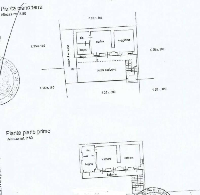 foto Plan Detached house via Giolitti, Piossasco