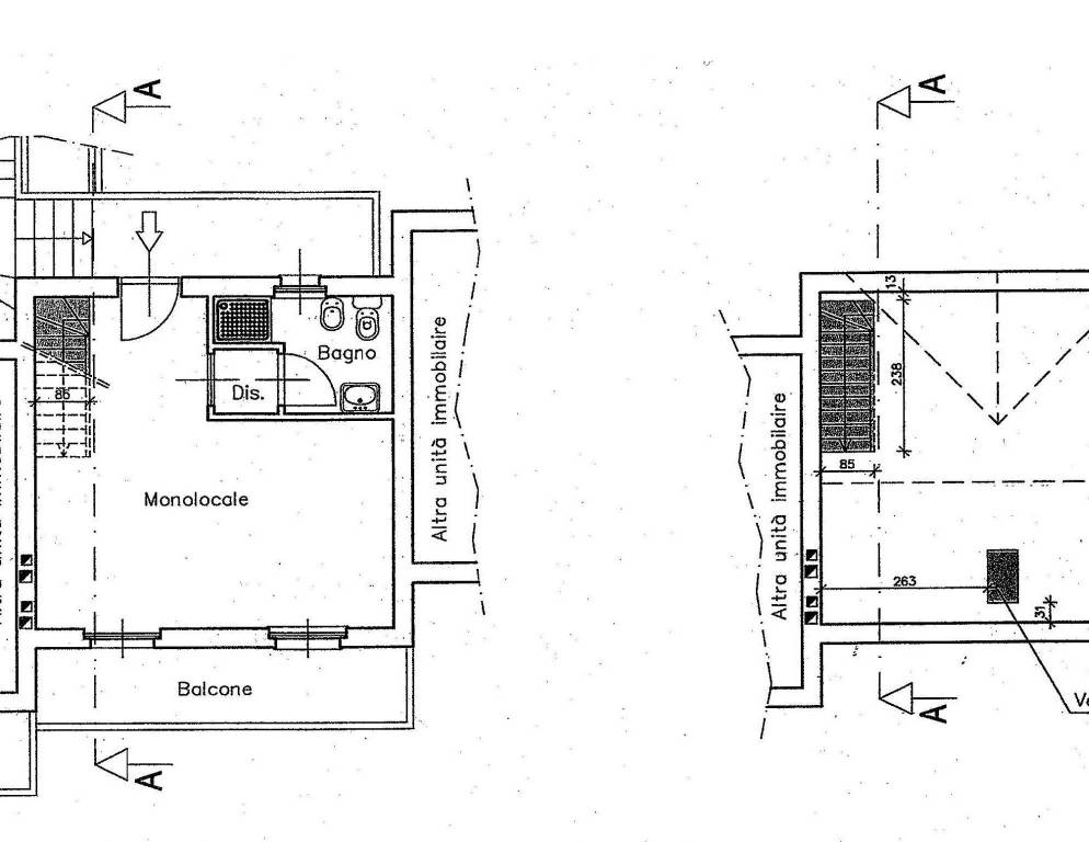 foto Planimetria 2-room flat frazione Torin, Pontey
