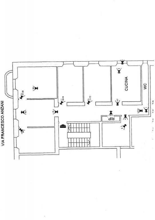 foto planimetria Apartment via Francesco Anzani 3, Genova
