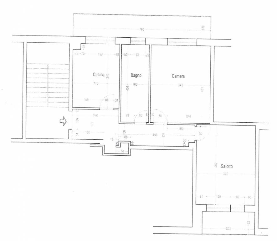 foto  3-room flat good condition, second floor, Mondovì