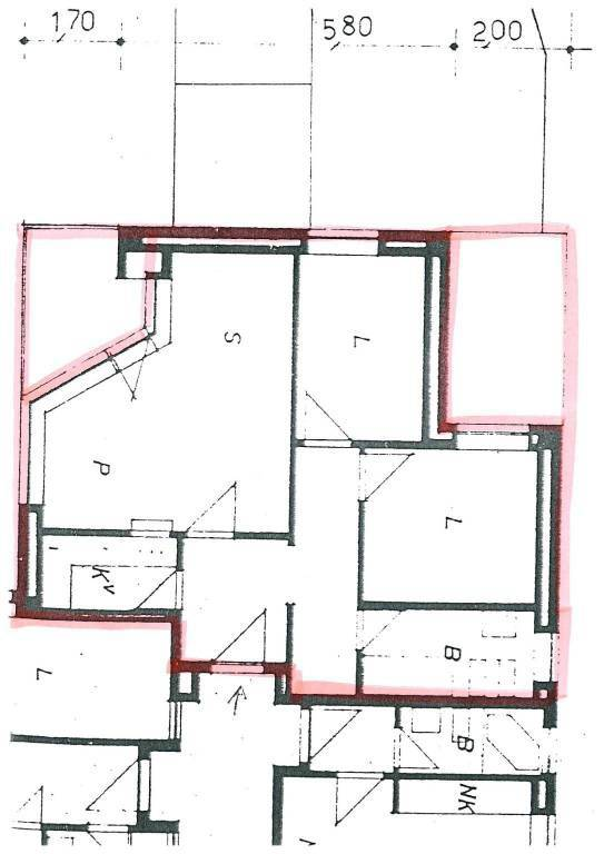 foto plan 3-room flat via Pinerolo 27, Sestriere