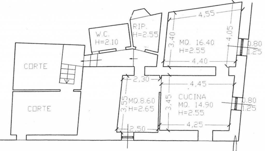 foto planimetria 3-room flat good condition, first floor, Montalcino