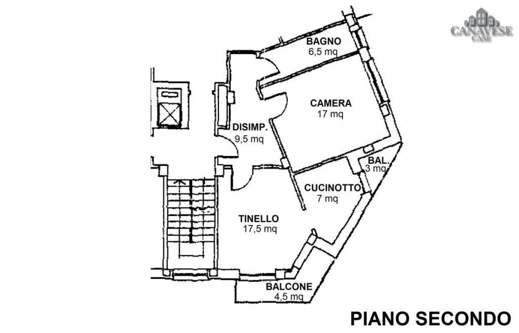 foto piantina 2-room flat via Giuseppe Verdi 11, Cuorgnè