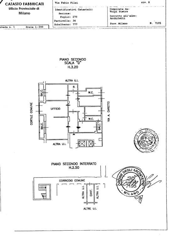 foto planimetria 4-room flat via Vittor Pisani 13, Milano
