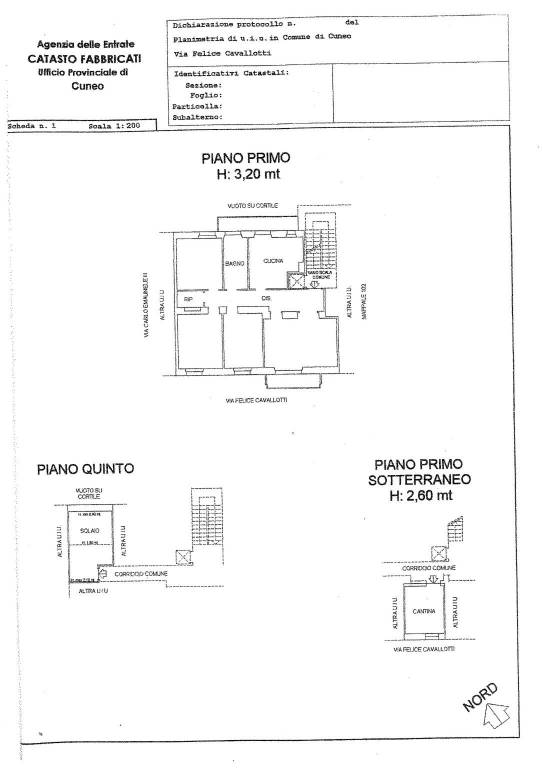 foto planimetria Apartment via Felice Cavallotti 2, Cuneo