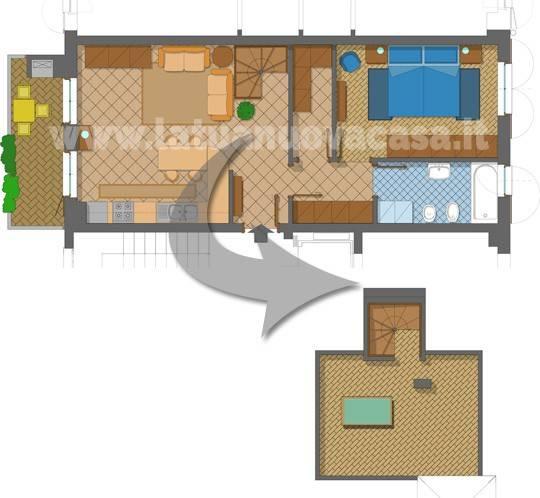 foto PLANIMETRIA 3-room flat via Leonardo da Vinci 6, Vernate