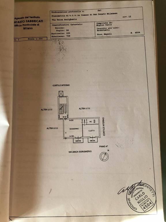 foto planimetria 2-room flat via Sant'Arialdo 90, Milano