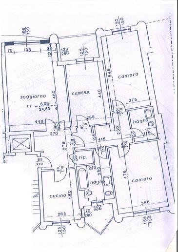 foto planimetria 4-room flat via Guglielmo Marconi 10, Cinisello Balsamo