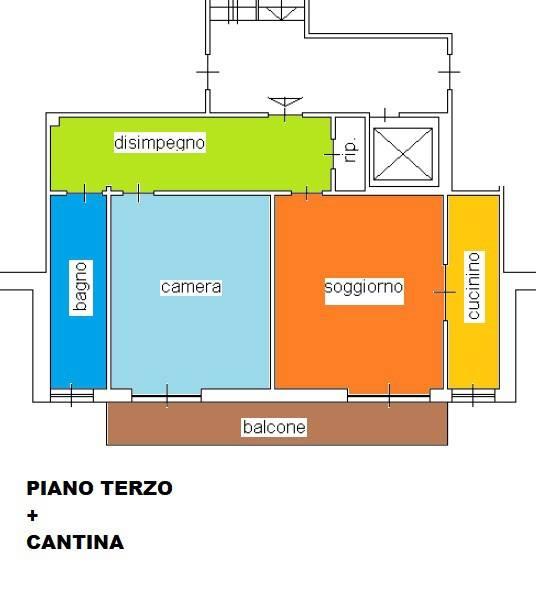 foto planimetria 2-room flat Strada Rigolfo 2, Moncalieri