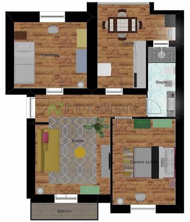 foto piantina 3-room flat excellent condition, top floor, Acireale
