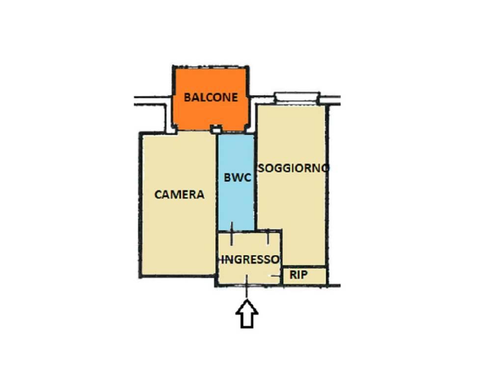 foto planimetria 2-room flat via Montevideo, Borghetto Santo Spirito