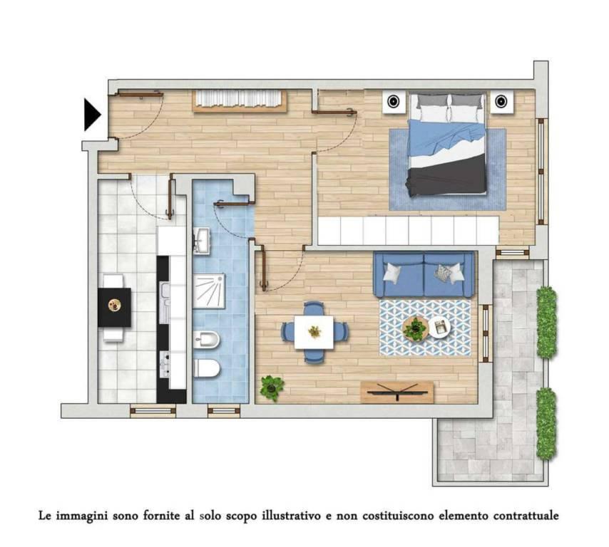 foto Planimetria Piso de dos habitaciones via Palmanova  95, Milano