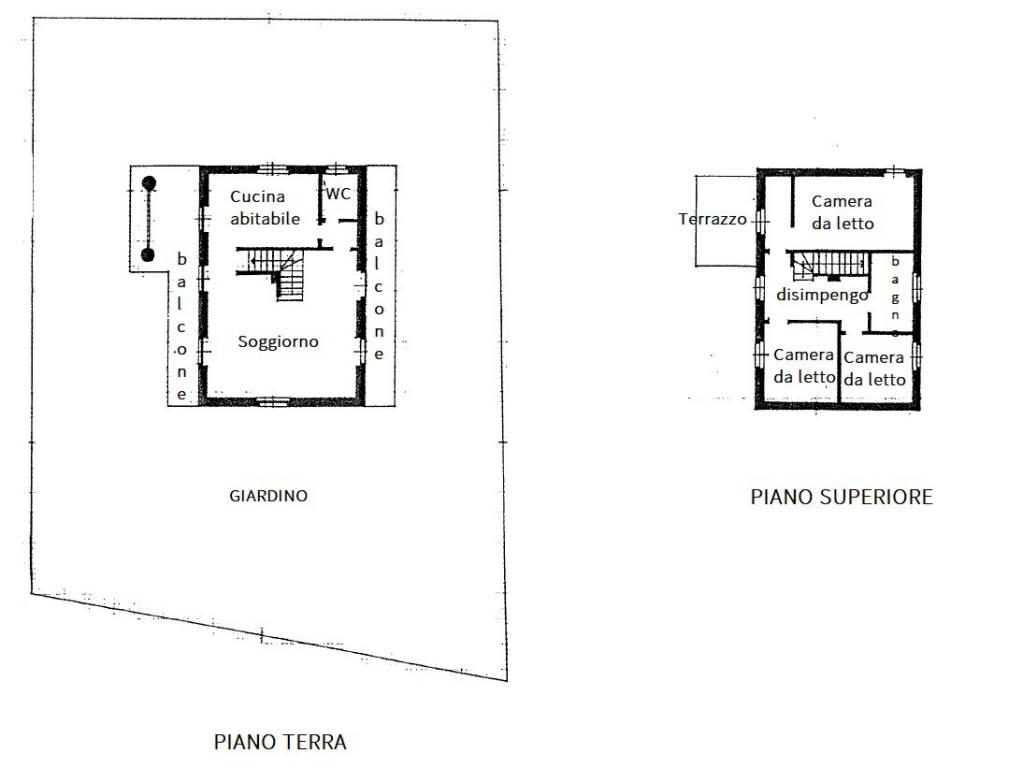 foto piantina Villa unifamiliare via delle Pozzanelle 18, Orino