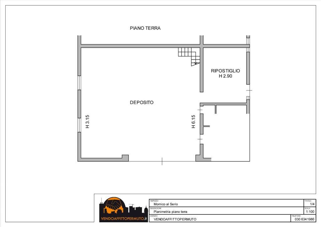 foto  3-room flat good condition, ground floor, Mornico al Serio