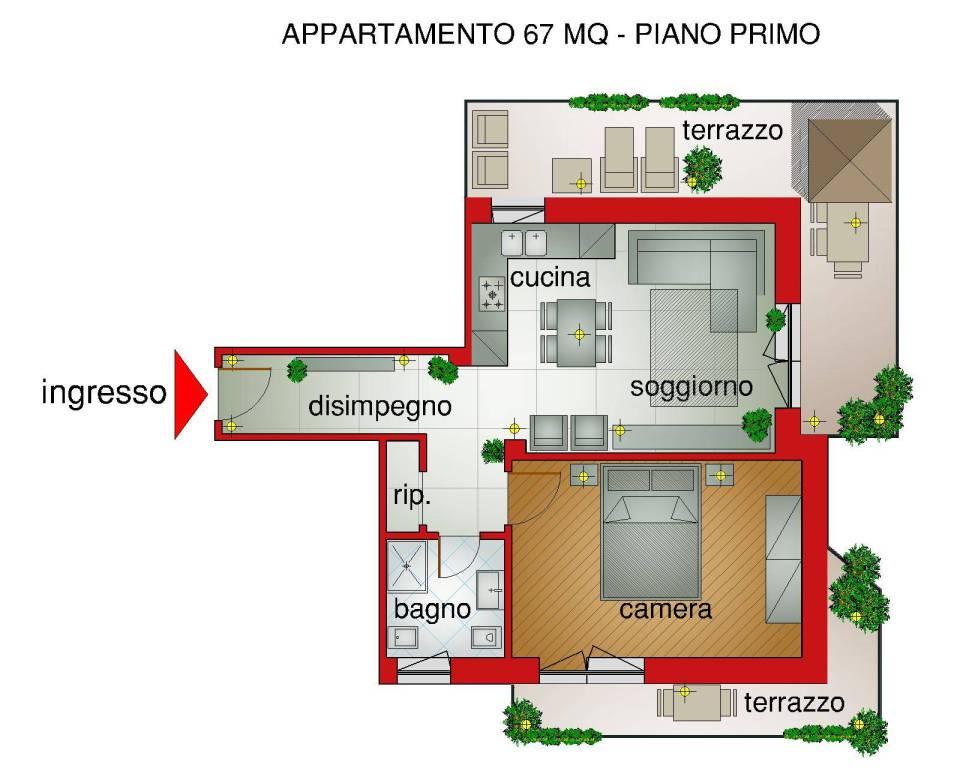 foto RAPPRESENTAZIONE GRAFICA 2-room flat via GROSSI, 1, Piossasco