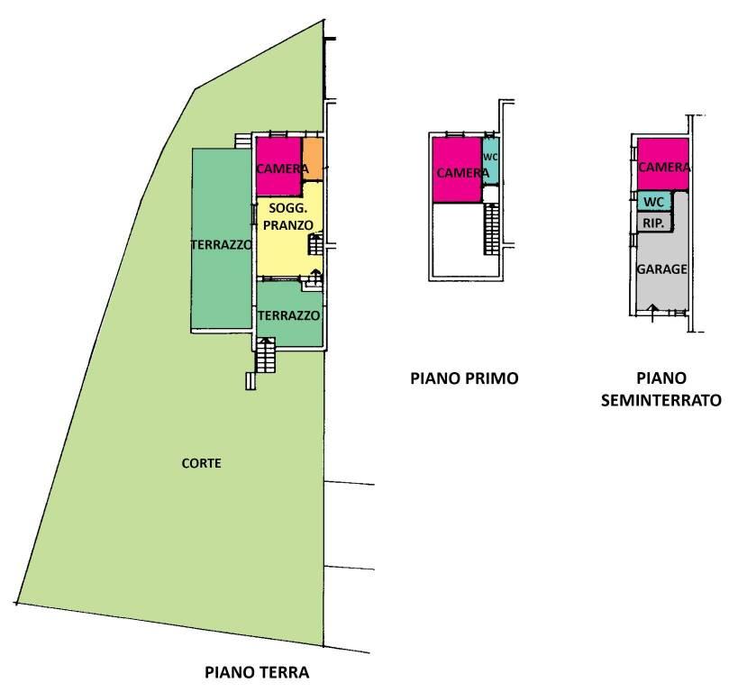 foto planimetria Villa a schiera, buono stato, Gabicce Mare