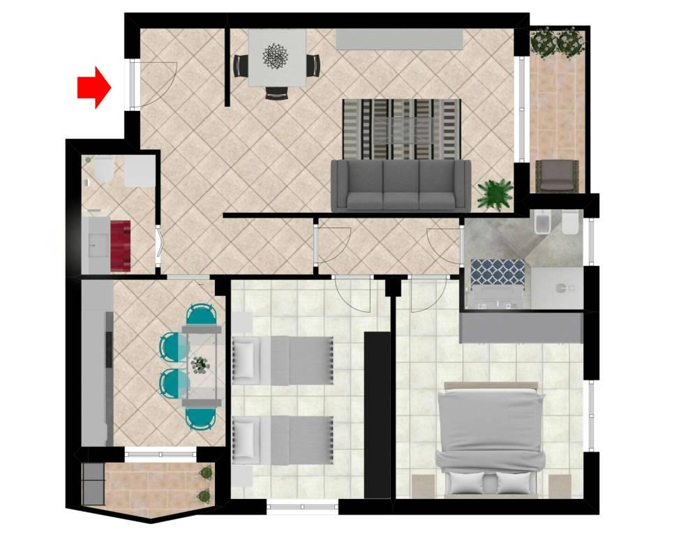 foto PLANIMETRIA 3-room flat via Salvo D'acquisto, Baranzate