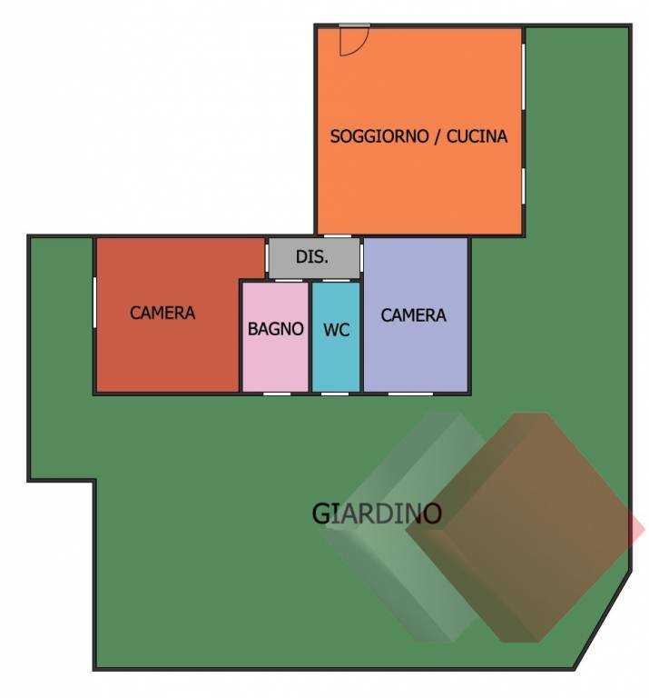 foto  3-room flat excellent condition, ground floor, Limido Comasco