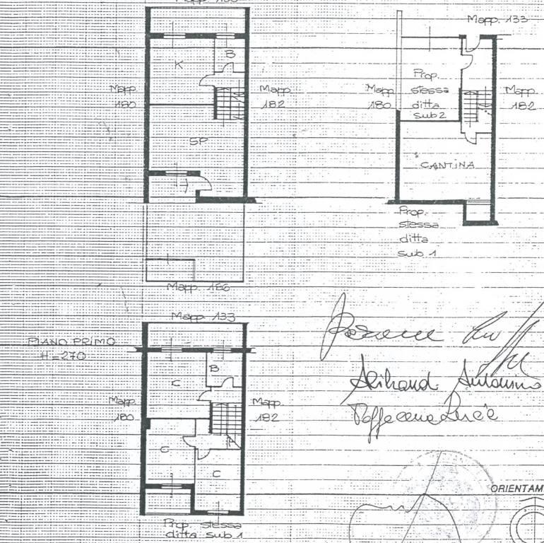 foto Planimetria Terraced house via Alberelle 108, Rozzano