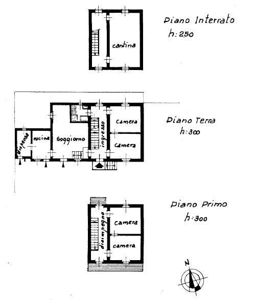 foto planimetria Villa unifamiliare vicolo San Pietro 5, Cambiano