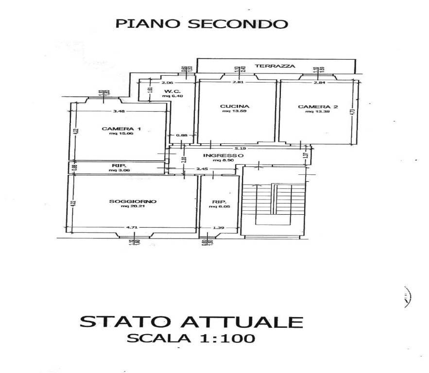 foto planimetria 4-room flat via F  Bonanni, Rufina
