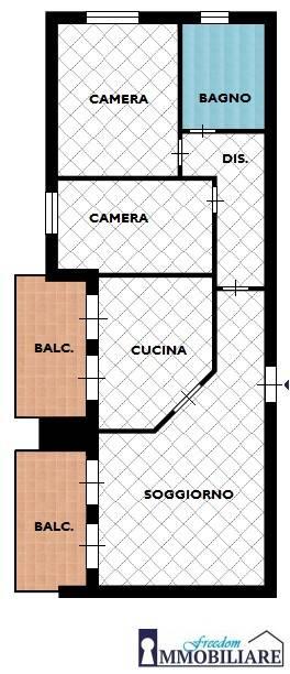 foto planimetria 3-room flat via Bambini di Beslan 12, San Giuliano Milanese