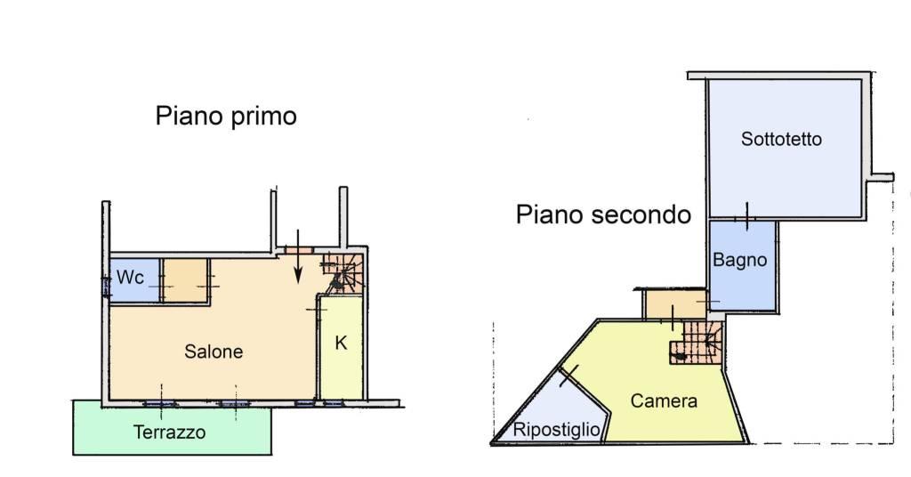 foto Planimetria Bilocale via Enrico Fermi, Forano