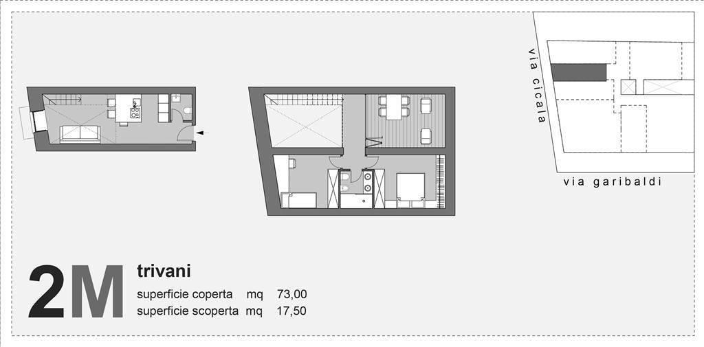foto Planimetria 3-room flat via Giuseppe Garibaldi, Messina