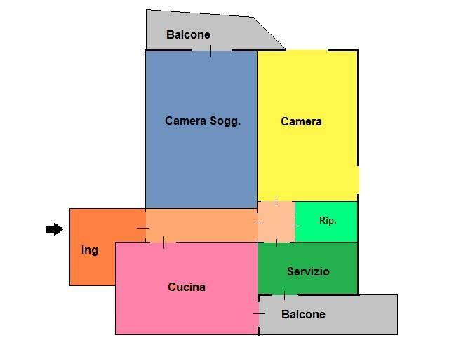 foto Planimetria Bilocale via Carlo Marx 345, Sesto San Giovanni
