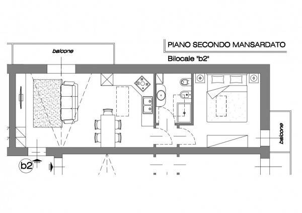 foto piano secondo 2-room flat via Gallarate, Castano Primo