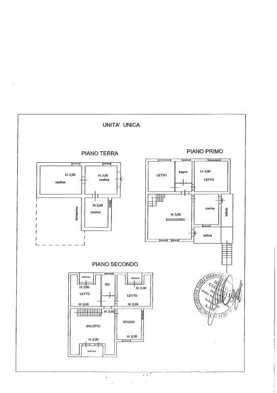 foto Planimetria casa Villa unifamiliare via Giardino, Poggio Nativo