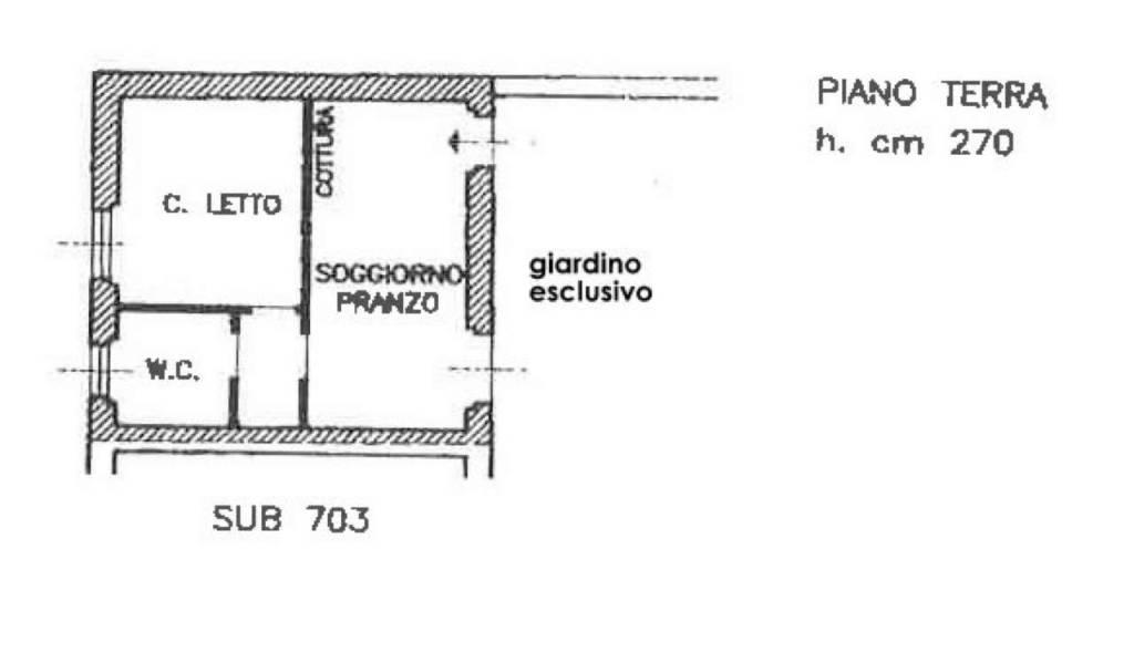 foto pianta casa 2-room flat via milano, Masate