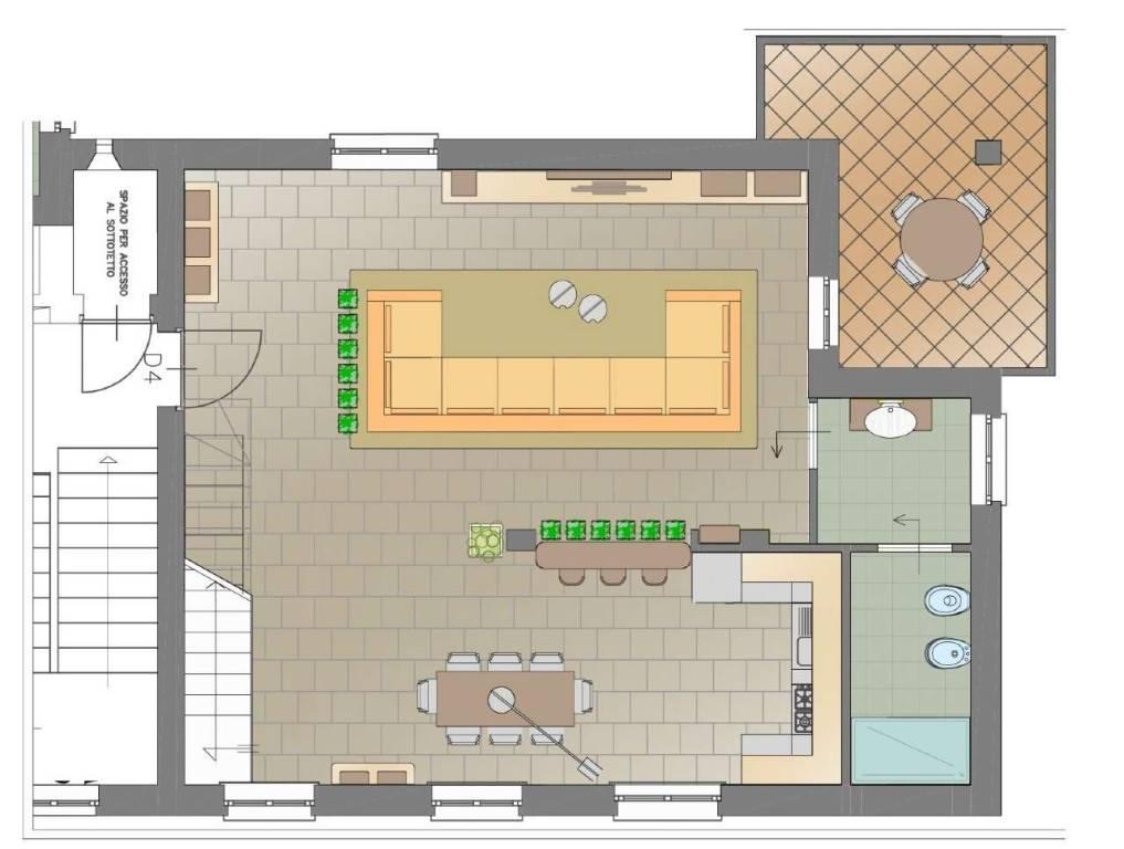foto piano giorno 4-room flat via padana superiore, Bellinzago Lombardo