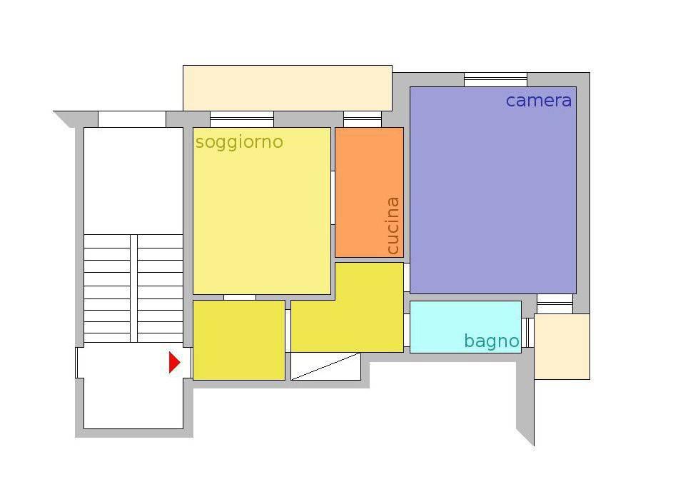foto Planimetria 2-room flat via Giuseppe Verdi 8, Santa Vittoria d'Alba