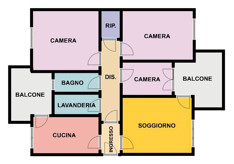 foto Planimetria 4-room flat via dei Pioppi 4, Bellinzago Lombardo