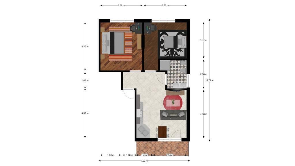 foto 1 4-room flat via Romana 69, Almese