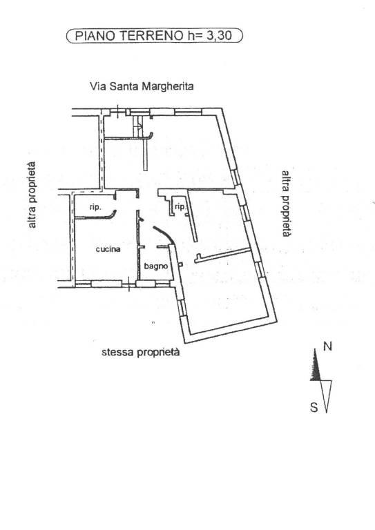 foto Planimetria 4-room flat via Santa Margherita 12, Alba